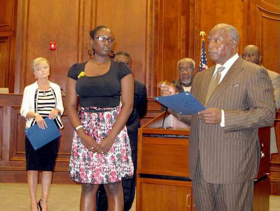 Sherry Strickland and Krystal Hart recognized