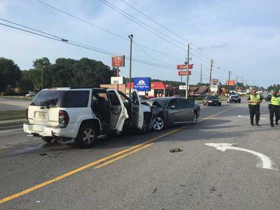 head-on collision Hinesville