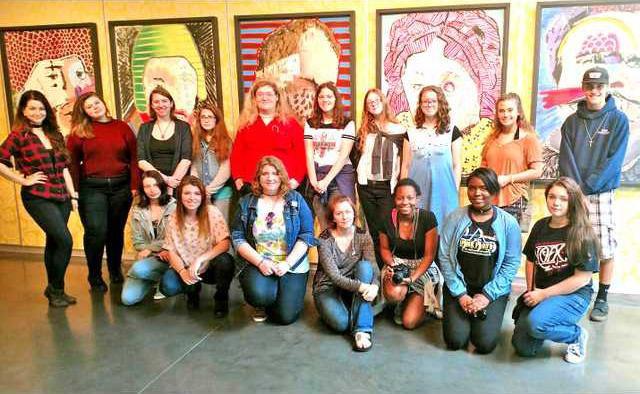 long HS art kids at SCAD