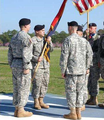 new 4th Brigade commander Col. Lou Lartigue takes flag