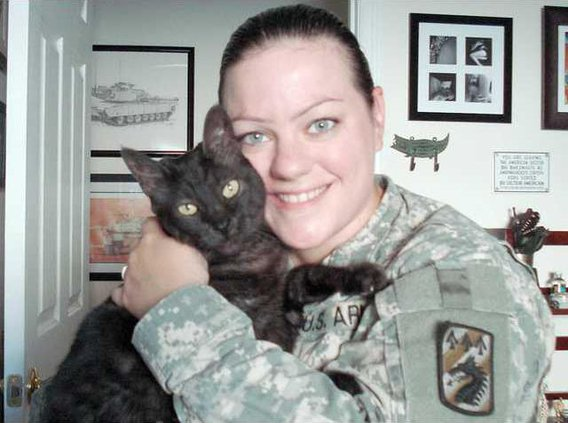 soldiers cat Rachel and Scab 1