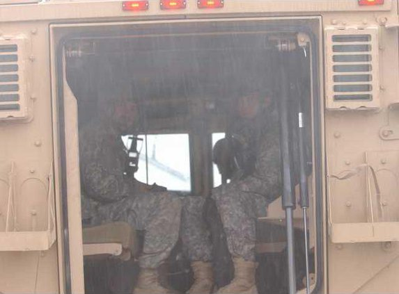 soldiers in back