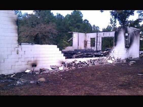 1014 Burned church