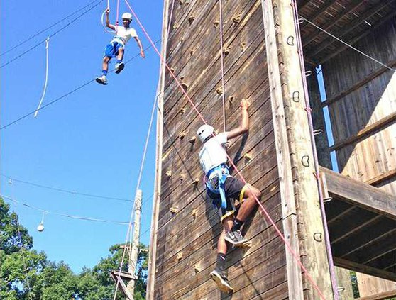 4-Hers rope course and rock climb