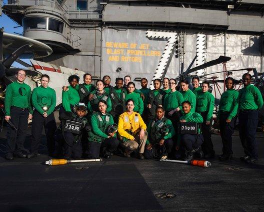USS theodore roosevelt deck crew