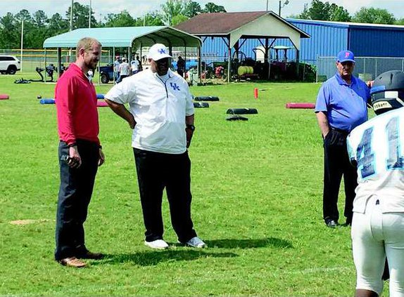 Division One Scouts Look at Long County Football  Talent