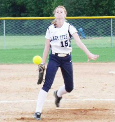 Emily Hester came in to close out the gm against SVA on Friday.