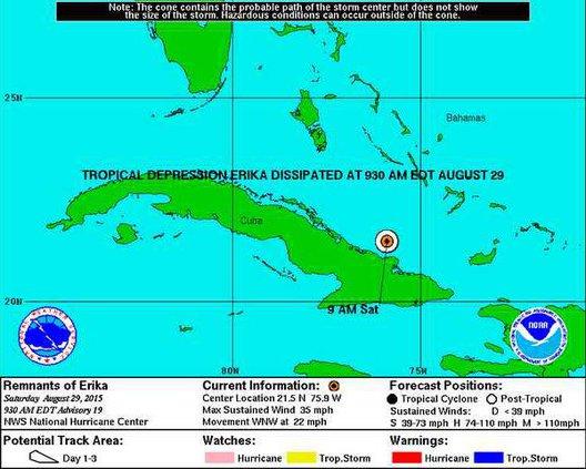 Erika dissipates 082915