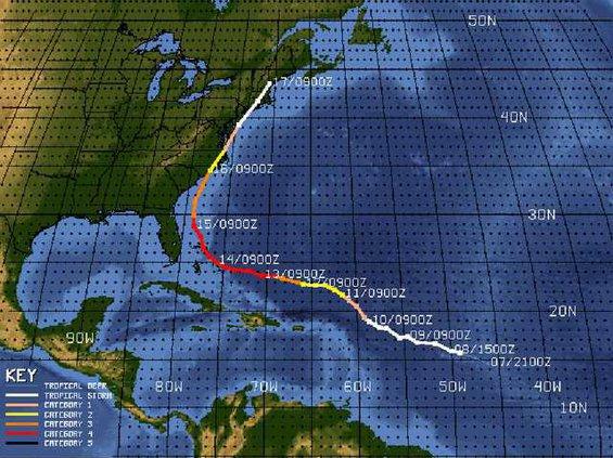 Floyd Track Map