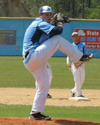 Luke Golden pitching agaisnt Toombs Co on Saturday.