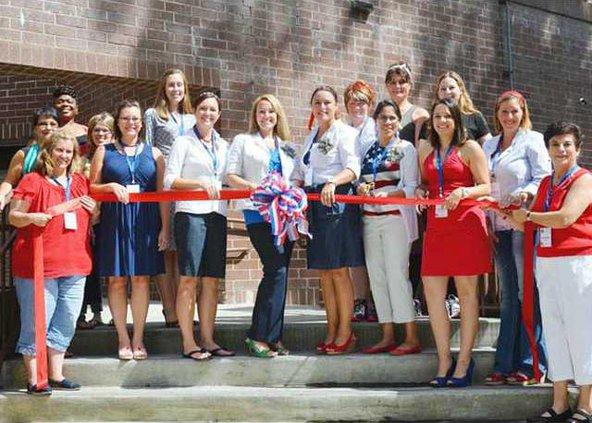 Marne Community  Spouses Club Ribbon Cutting 5