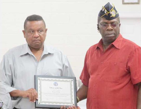 Veteran of the year Moses E. Willis with Senior Vice Cdr Donald Spencer