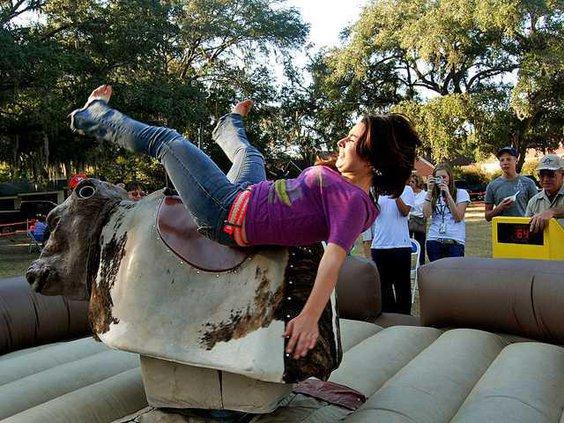 lpd ch12 2595Michelle Roberts falls off mechanical bull