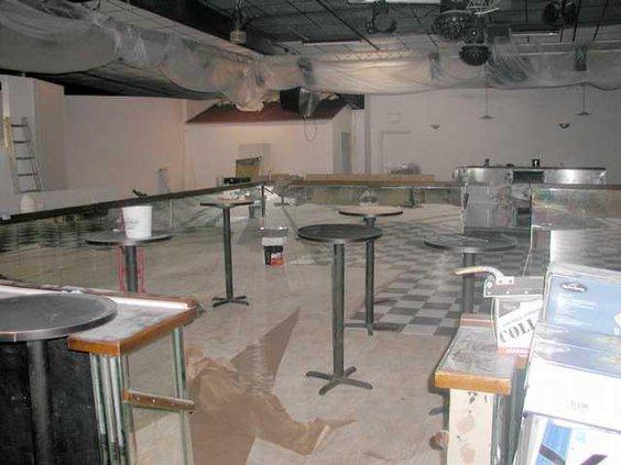 old sunken dance floor