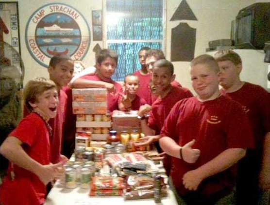 0515 Scout food drive