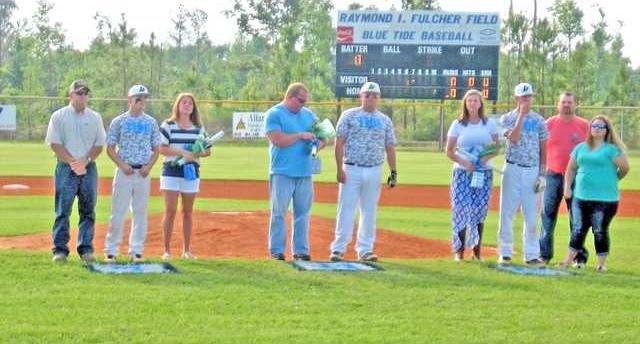 Blue Tide baseball players honored on Senior Night