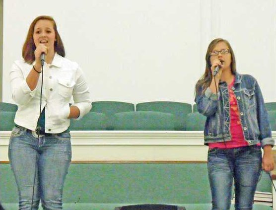 Candace Willis and Kirstin Irvine sing