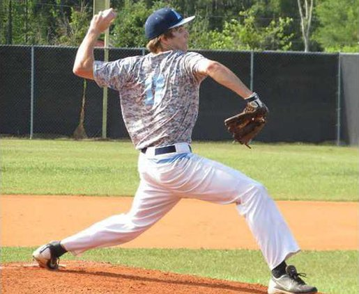 Gary Poppell pitched 2 shutout  innings in his final game for Long Co