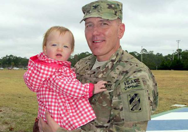 Col. Novack with youngest daughter