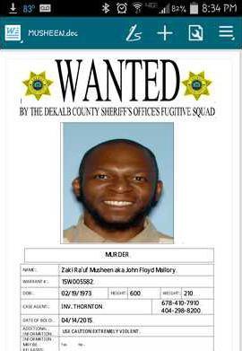 DeKalb wanted poster