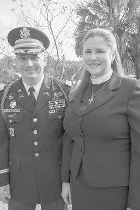 Rev Adrianna Shaw and husband Lt Col Scott Shaw