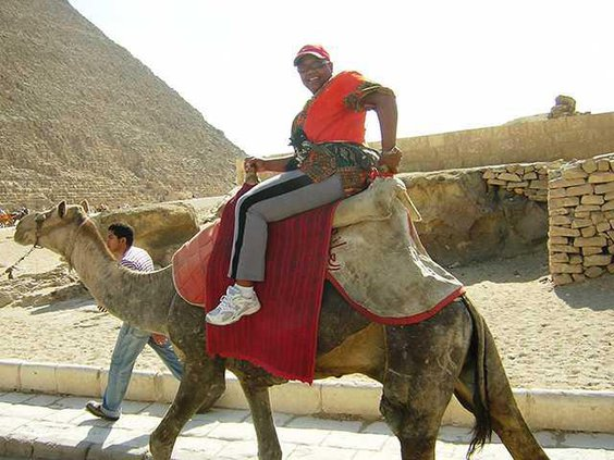 In Giza Egypt at Pyramids - 2007