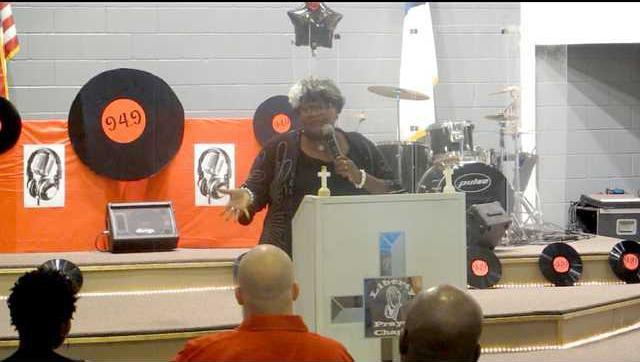 Reverend Katrina Deason  at ribbon cutting
