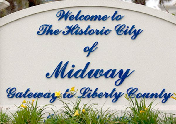 Midway welcome sign