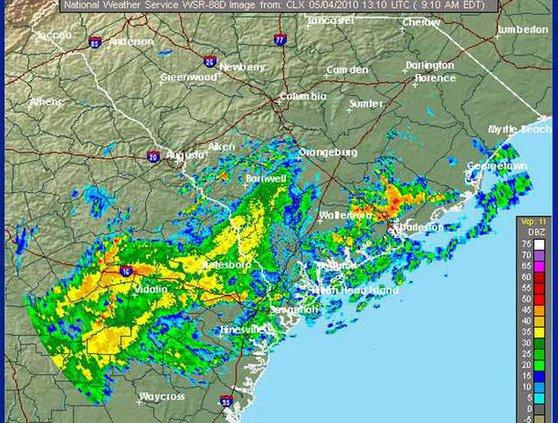 rain tues morn
