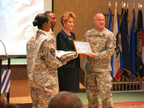 2Warnell honored by 42nd Fires Brigade Cdr. Col. John O27Grady