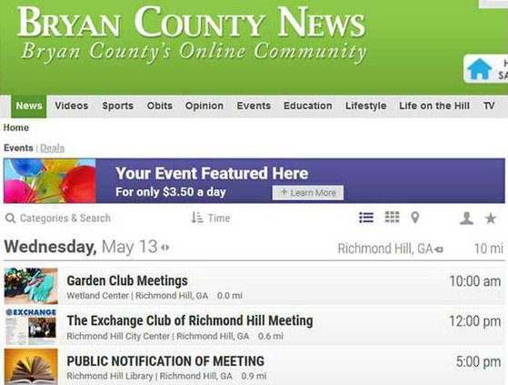 BCN calendar screenshot