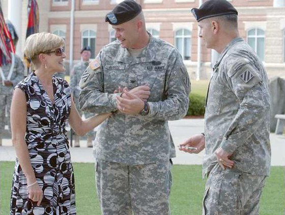 Col. Terry Ferrel his wife Robbie and Maj. Gen. Cucolo
