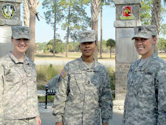 Cpl. Emily Knitter Sfc. Margaret Beatty  Sfc. Michelle Tyson