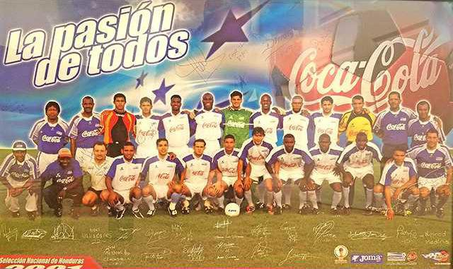 Dr. Palmer pictured with the Honduran Soccer Team. Photo Provided 1