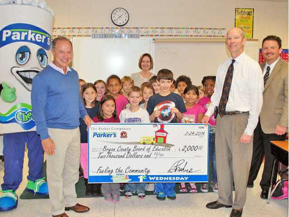 Parkers FTC - Bryan County Donation at Richmond Hill Elementary School