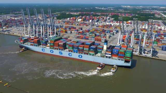 Port Cargo Ship
