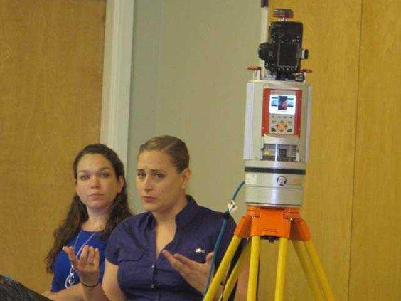 CID special agent Sarah Davis and digital evidence examiner Christina Malone