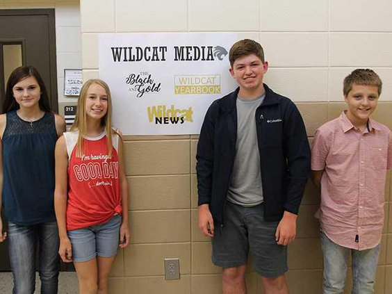 Camdyn Newberry Maggie Baker Joshua Johnson  Chris Freeman 8th graders at RHMS all play key roles in the Wildcat News and the recent first e