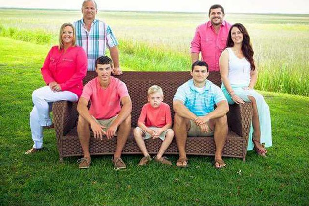 Galbreath is proud of the values and lessons he has learned from his family. Photo provided