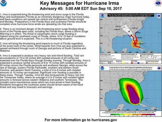 Irma Sunday