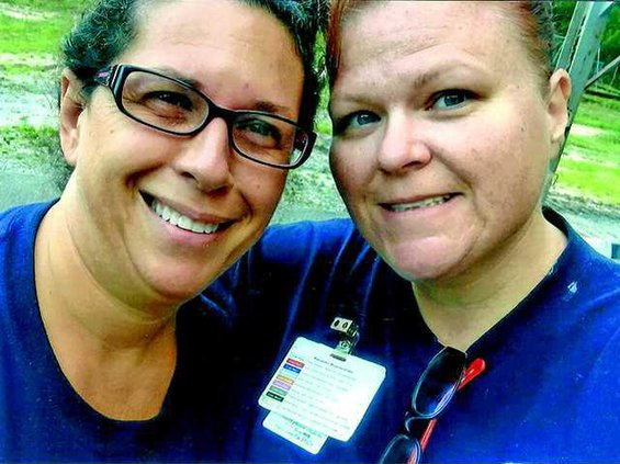 Patty Phillips pictured with Amy Mason treasured their parternship when working as a Paramedic and EMT-I for many years within BCES.