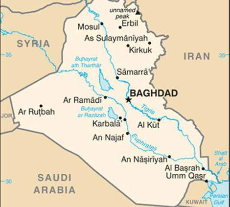 iraq map from cia