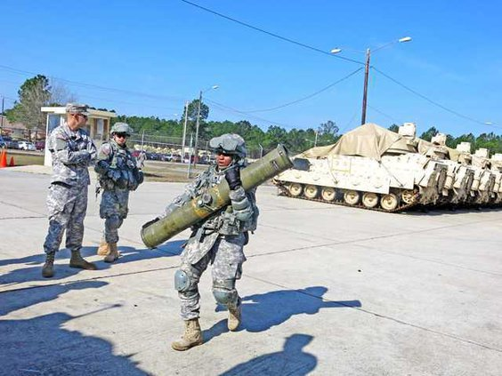loading TOW missile