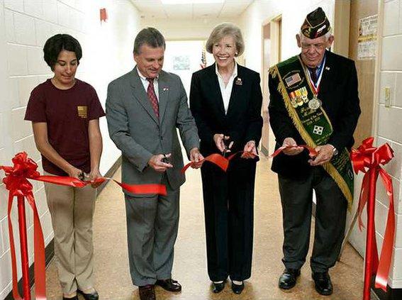 military ribbon cutting