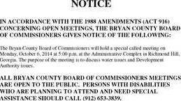 public notice announcement Oct 6
