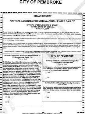 sample ballot Page 1