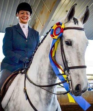 Ann riding Daisy at the Perry Classic. Photo provided.