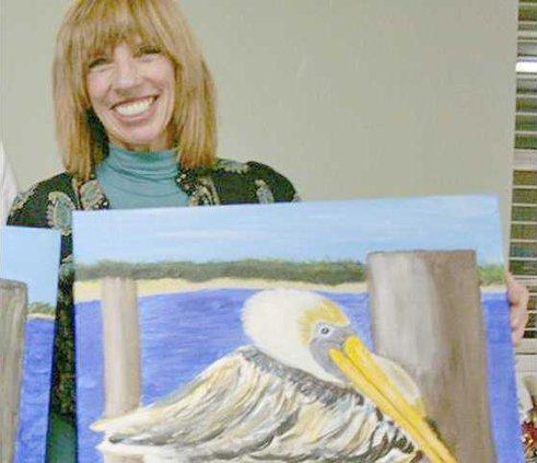 Debbie Hallman Richmond Hill Elementary Teacher and frequent Picasso Painter