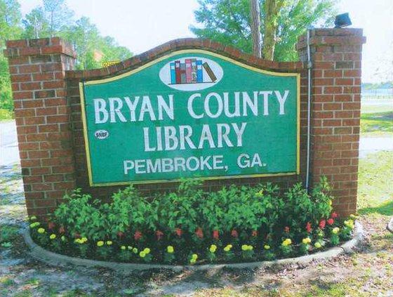 Pembroke Library Sign