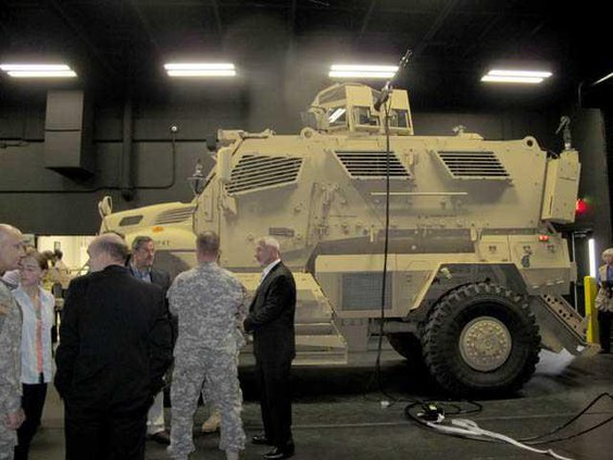 Quinlan responds to question about MRAP simulator